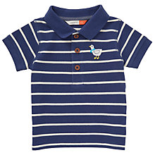 Buy John Lewis Baby Stripe Seagull Polo Shirt, Blue/White Online at johnlewis.com