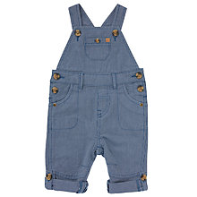 Buy John Lewis Baby Textured Dungarees, Blue Online at johnlewis.com