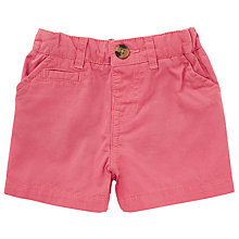 Buy John Lewis Baby Twill Shorts, Red Online at johnlewis.com