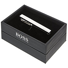 Buy BOSS Tennyson Logo Tie Clip, Silver Online at johnlewis.com