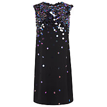 Buy L.K. Bennett Essa Embellished Dress, Black Online at johnlewis.com