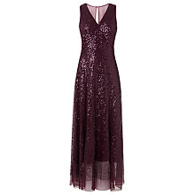 Buy L.K. Bennett Elora Sequin Dress, Purple Online at johnlewis.com