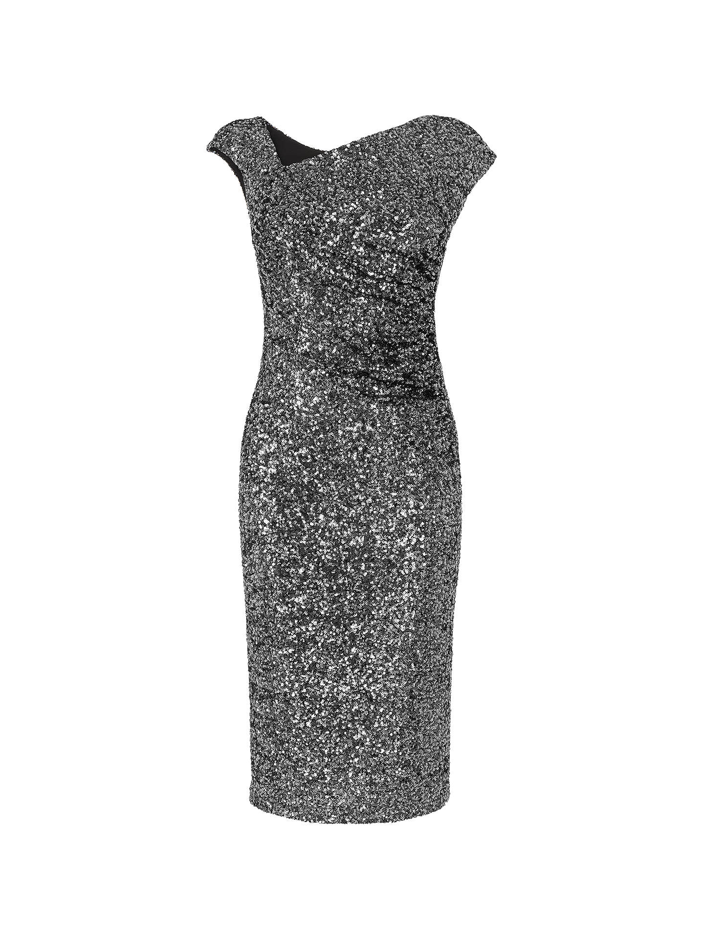 ba1e96a2 Buy L.K. Bennett Jazz Sequin Dress, Silver, 6 Online at johnlewis.com ...