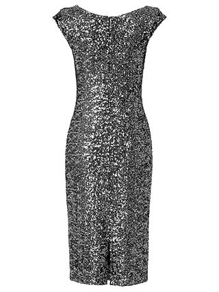 Buy L.K. Bennett Jazz Sequin Dress, Silver, 6 Online at johnlewis.com