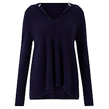 Buy Collection WEEKEND by John Lewis Cashmere Hoodie, Navy Online at johnlewis.com