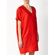 Buy John Lewis Short Sleeve V-Neck Dress, Chilli Online at johnlewis.com