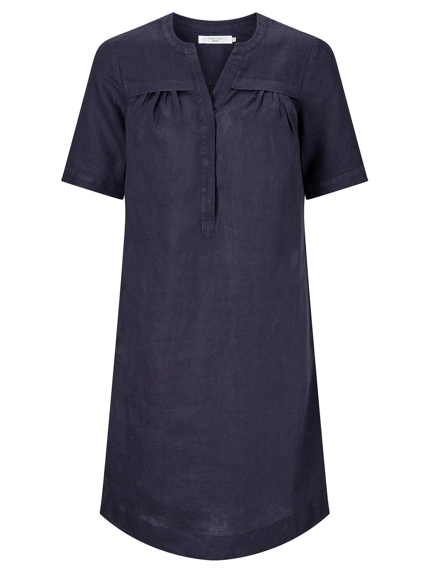 e8f3552474 ... Buy John Lewis Linen Notch Neck Dress