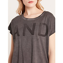 Buy AND/OR Pigment Washed Top, Charcoal Online at johnlewis.com