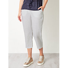 Buy John Lewis Cropped Linen Trousers Online at johnlewis.com