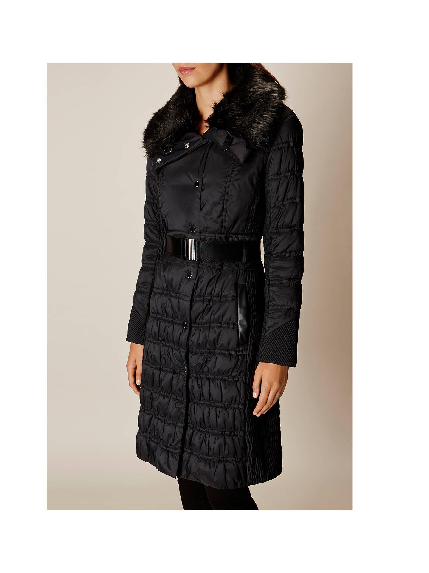 94c4f527ad ... Buy Karen Millen Lightweight Padded Coat, Black, 6 Online at  johnlewis.com ...