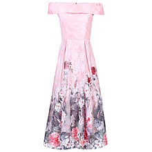 Buy Jolie Moi Floral Lace Print Bardot Dress, Pink Online at johnlewis.com