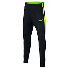 Buy Nike Children's Dry Academy Football Bottoms, Black/Green Online at johnlewis.com