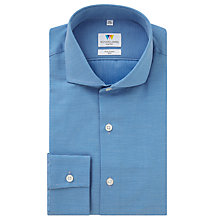 Buy Richard James Mayfair Ottoman Slim Fit Shirt, Blue/White Online at johnlewis.com