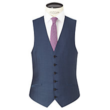 Buy Richard James Mayfair Wool Mohair Slim Fit Waistcoat, Blue Steel Online at johnlewis.com