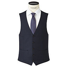 Buy John Lewis Regular Fit Birdseye Waistcoat, Navy Online at johnlewis.com