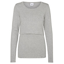 Buy Mamalicious Alexandra June Maternity Nursing Knit Top, Grey Melange Online at johnlewis.com