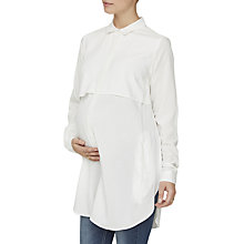 Buy Mamalicious Ingrid Maternity Woven Tunic Top, Snow White Online at johnlewis.com