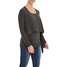 Buy Mamalicious Agnes June Maternity Nursing Jersey Top, Grey Melange Online at johnlewis.com