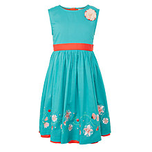 Buy John Lewis Girls' Embroidered Dress, Lagoon Online at johnlewis.com
