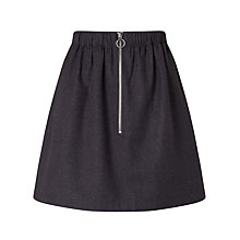Buy Minimum Axelia Front Zip Skirt, Grey Online at johnlewis.com