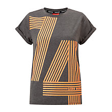 Buy Bjorn Borg Silvie T-Shirt, Anthracite Grey Melange Online at johnlewis.com