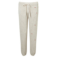 Buy Sundry Heart Patch Sweat Pants, Heather Oatmeal Online at johnlewis.com