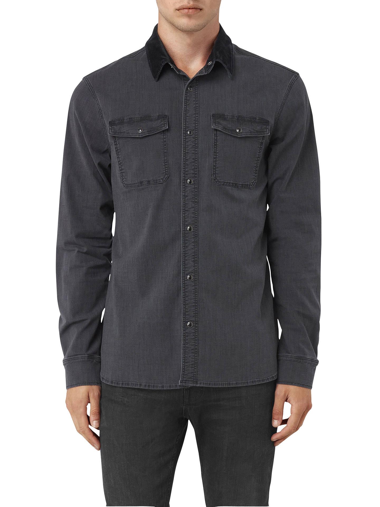 bb324f9561 BuyAllSaints Dyce Denim Shirt