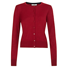 Buy Hobbs Marley Cardigan, Dark Red Mel Online at johnlewis.com