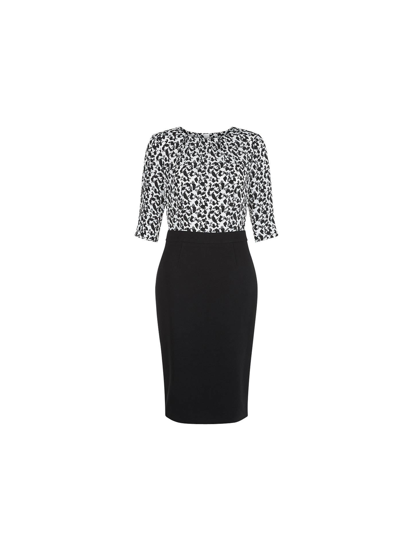 6b1f3f2e98d4 Buy Hobbs Calista Dress, Black/Ivory, 6 Online at johnlewis.com ...