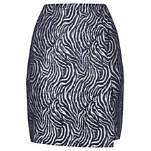 Buy Warehouse Zebra Pattern Metallic Skirt, Black Online at johnlewis.com