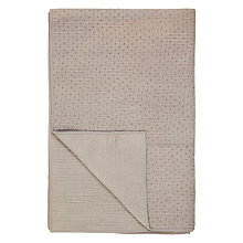 Buy John Lewis Brambell Cotton Bedspread, Grey Online at johnlewis.com