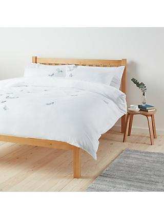 John Lewis & Partners Easy Care Butterflies Duvet Cover and Pillowcase Set