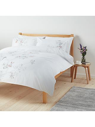 John Lewis & Partners Easy Care Chinese Birds Duvet Cover and Pillowcase Set