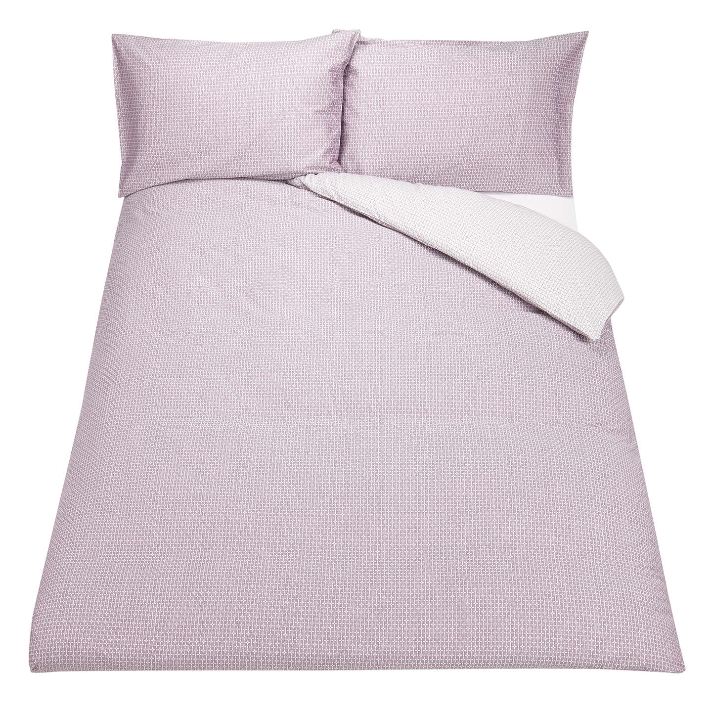 BuyJohn Lewis Country Ditton Duvet Cover and Pillowcase Set, Single, Purple Online at johnlewis.com