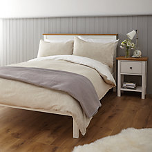 Buy John Lewis Relaxed Country Damask Duvet Cover and Pillowcase Set Online at johnlewis.com