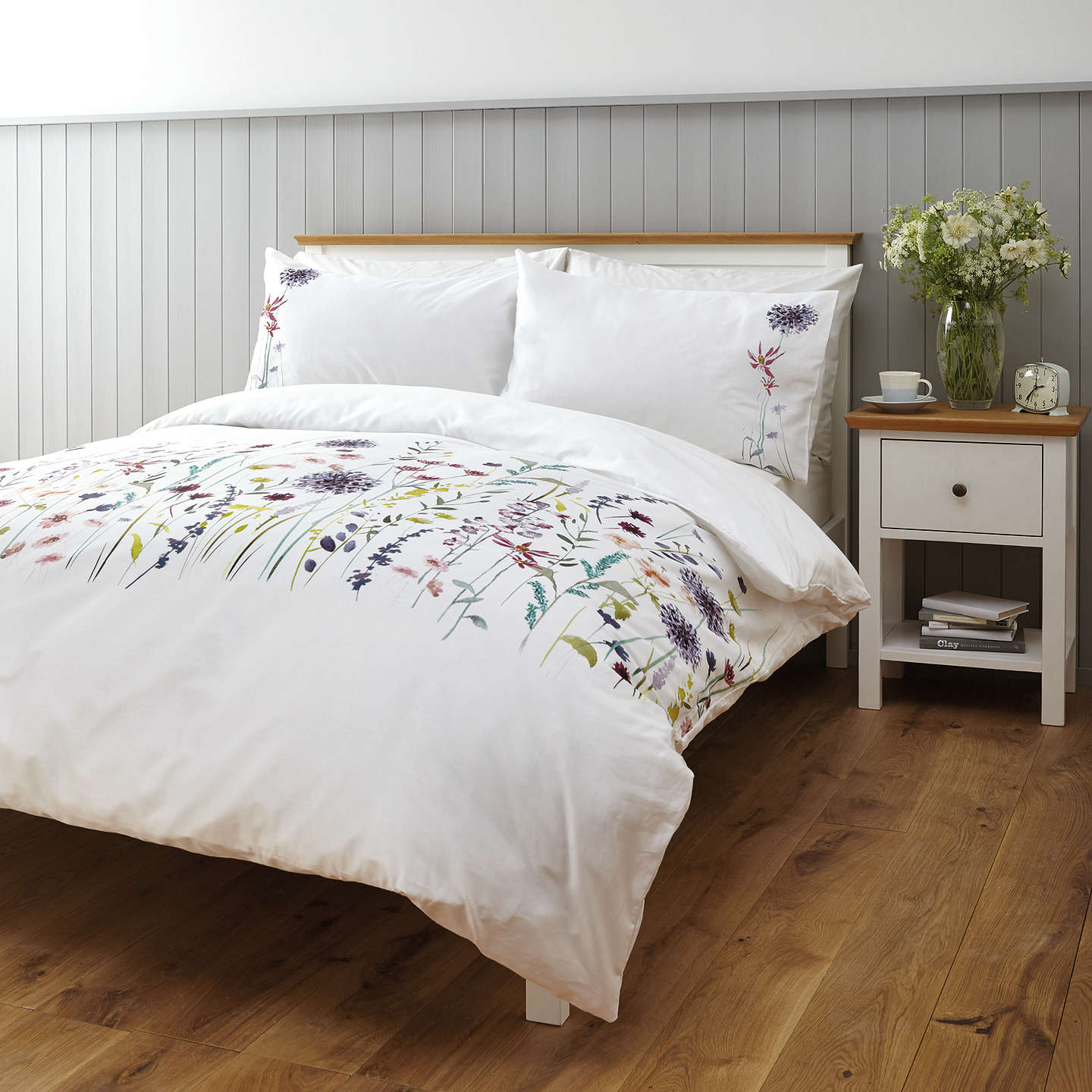 John Lewis Leckford Duvet Cover And Pillowcase Set Single Online At Johnlewis