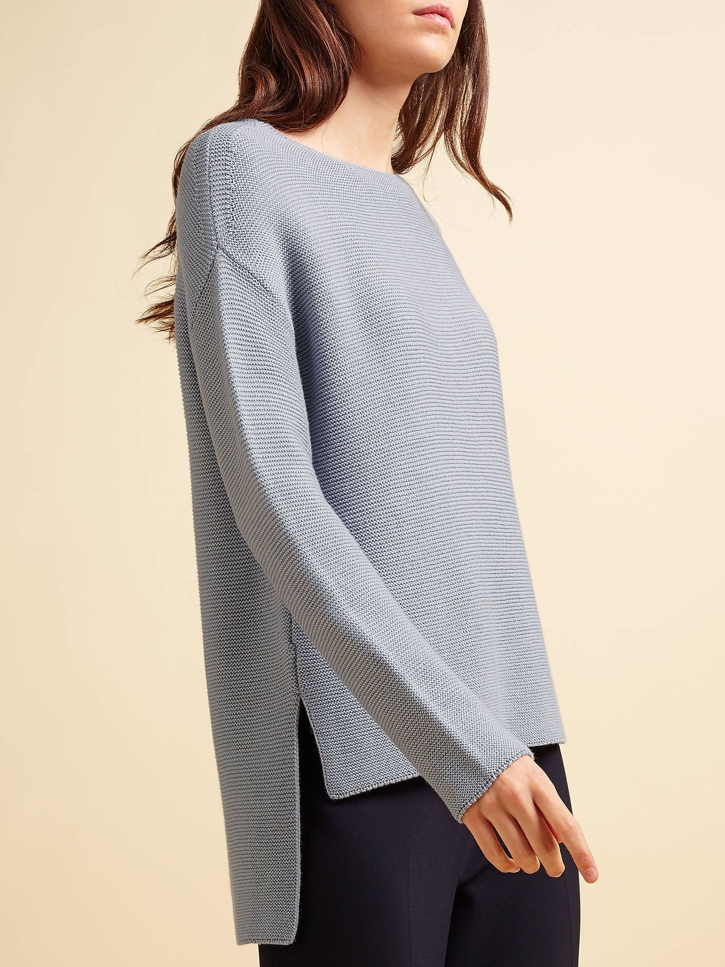 Buy Modern Rarity Links Jumper, Dusty Blue, XS Online at johnlewis.com