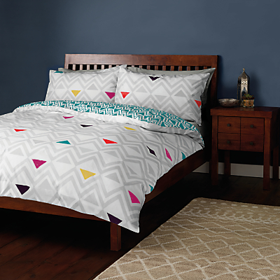 John Lewis Diamonds Duvet Cover and Pillowcase Set