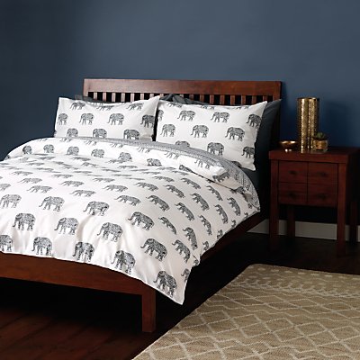John Lewis Fusion Elephants Duvet Cover and Pillowcase Set