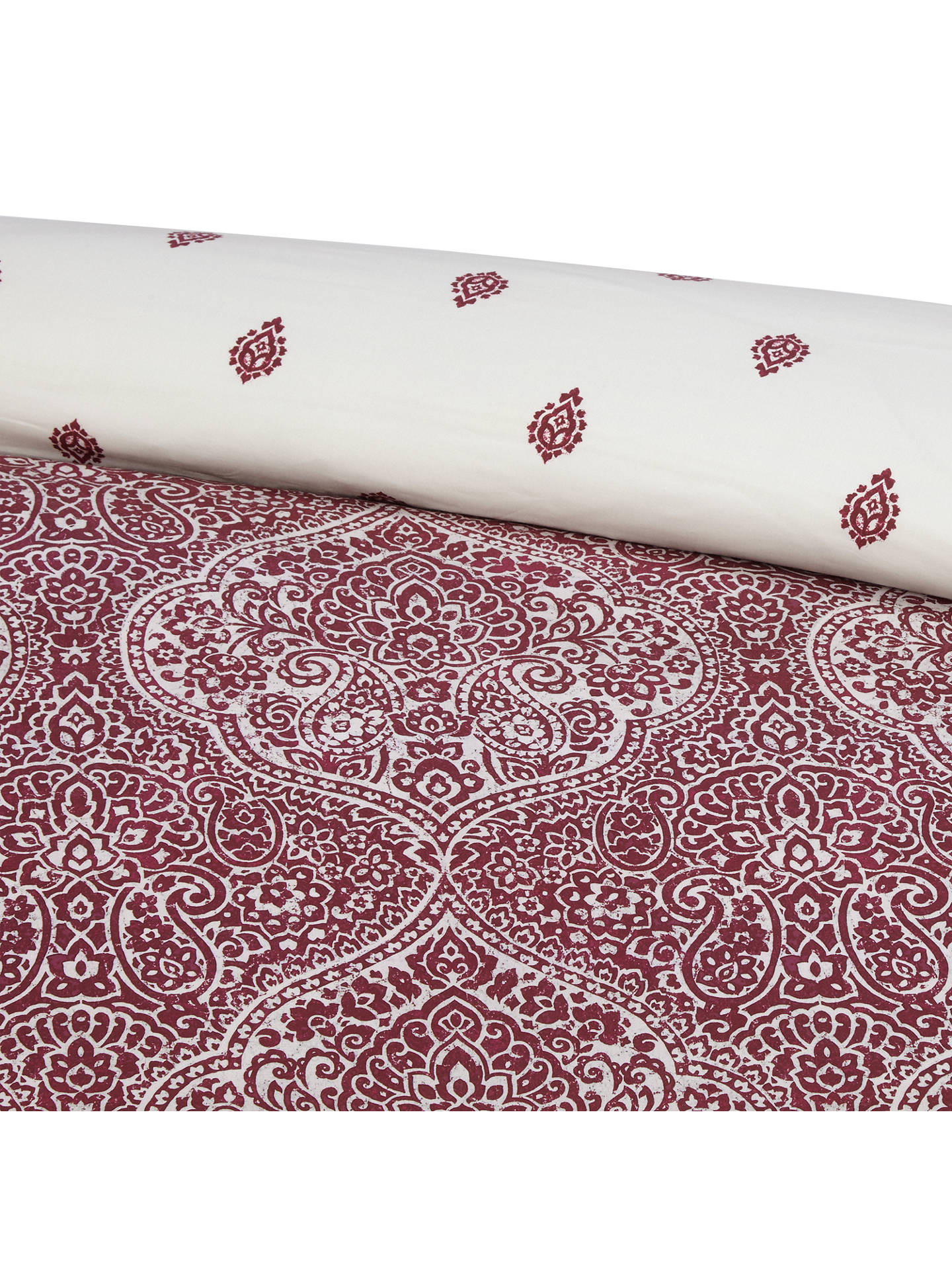 BuyJohn Lewis & Partners Fusion Zari Oxford Pillowcase, Mulberry Online at johnlewis.com