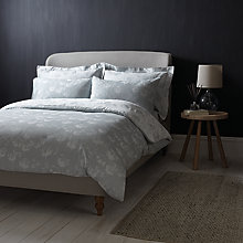 Buy John Lewis Croft Collection Grace Cotton Bedding, Slate Blue Online at johnlewis.com