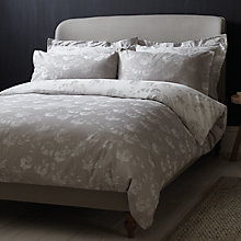 Buy John Lewis Croft Collection Grace Cotton Bedding, Grey Online at johnlewis.com