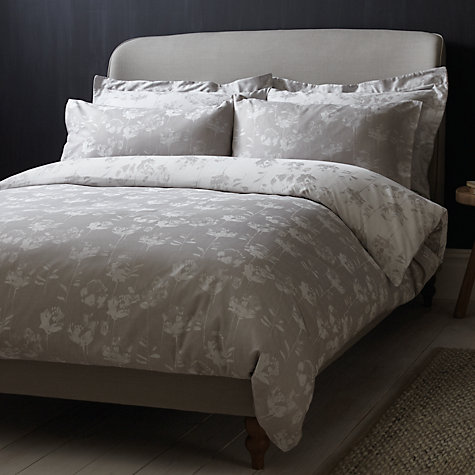 Croft Collection Grace Cotton Bedding Grey Online At Johnlewis