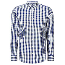 Buy Gant Multicolour Gingham Shirt, Indigo Blue Online at johnlewis.com