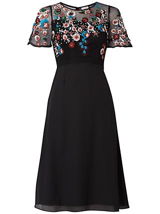 Raishma Autumn Floral Dress, Black