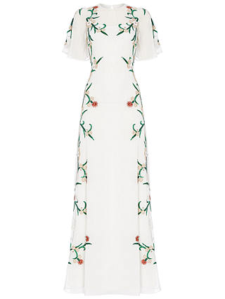 Buy Raishma Embroidered Filigree Gown, White, 8 Online at johnlewis.com