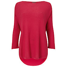 Buy Phase Eight Megg Curve Hem Jumper, Cranberry Crush Online at johnlewis.com