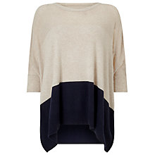 Buy Phase Eight Cerelia Colourblock Jumper, Navy/Stone Online at johnlewis.com
