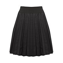 Buy Oasis Pleated Faux Leather Skirt, Black Online at johnlewis.com