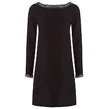 Buy Raishma Low Back Tunic Dress, Black Online at johnlewis.com